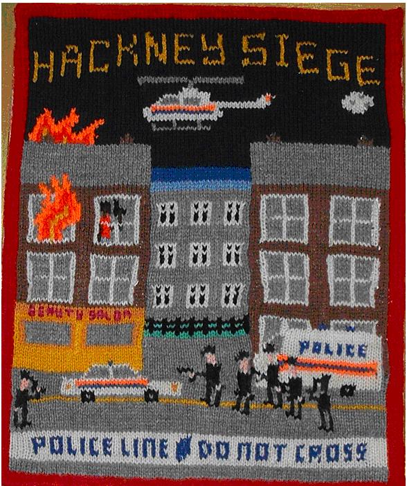 Hackney Siege 2003 hand knit acrylic